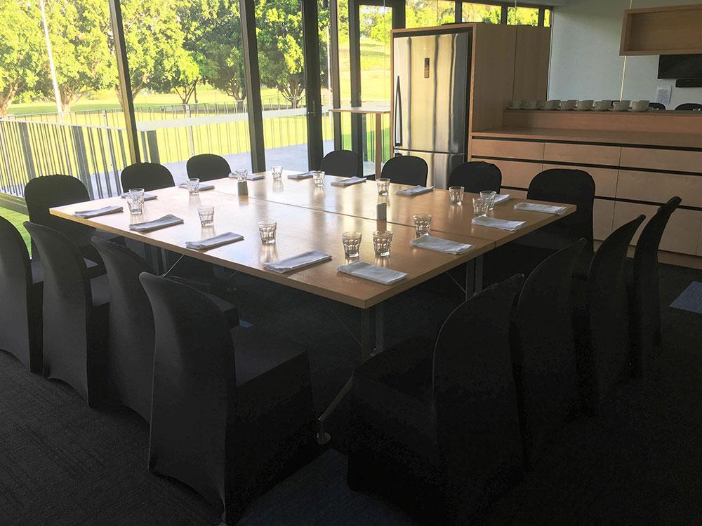 Boardroom setup, Figs on Sylvan Brisbane, Event Venue