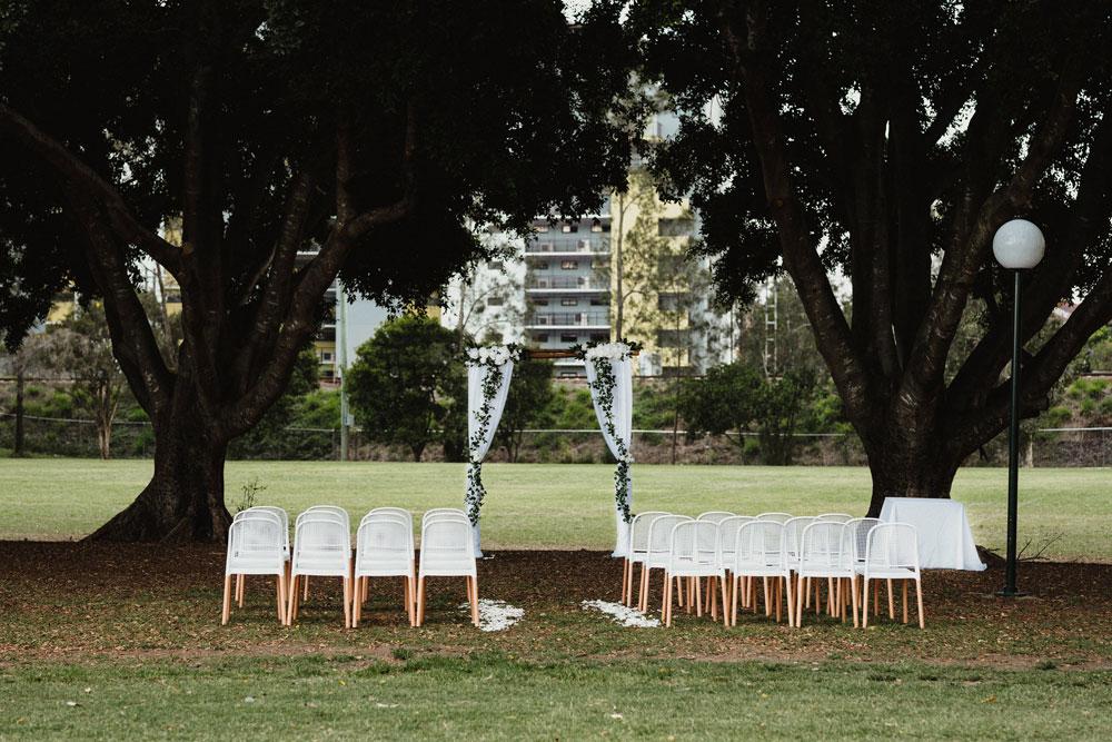 Brisbane wedding venue, Figs on Sylvan, ceremony